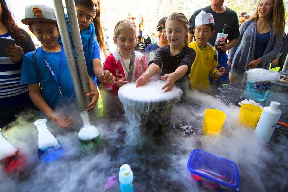 Children enjoy the science of Expo Day
