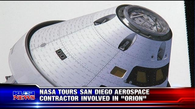 NASA tours San Diego aerospace contractor involved in 'Orion'