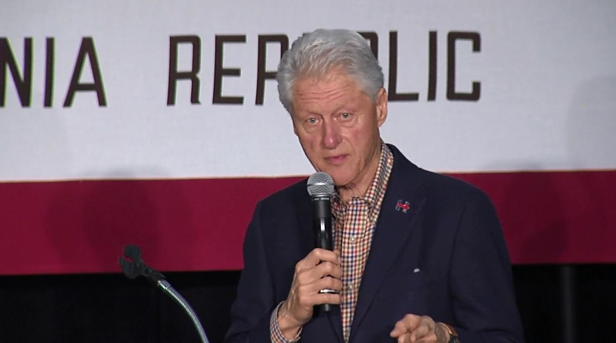 Bill Clinton urges supporters to stay with Hillary until June 7 California primary