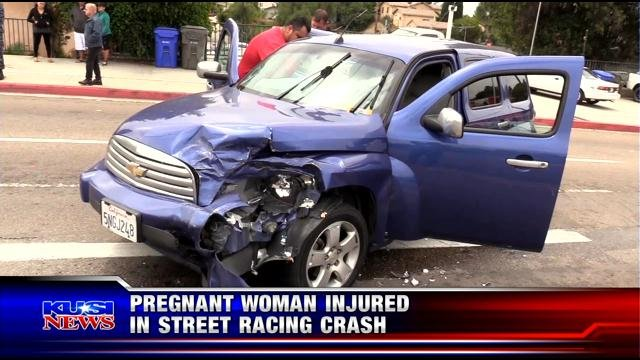 Pregnant woman injured in street racing crash in National City