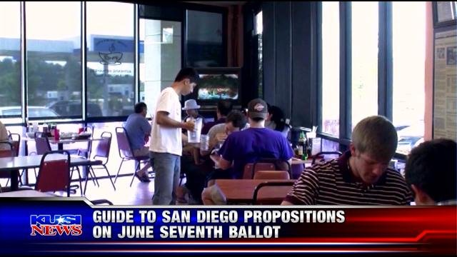 Guide to San Diego propositions on June 7 ballot