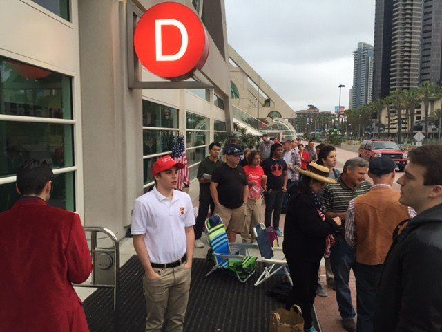 Trump supporters began gathering at 5 a.m. Friday for the rally at 2 p.m.