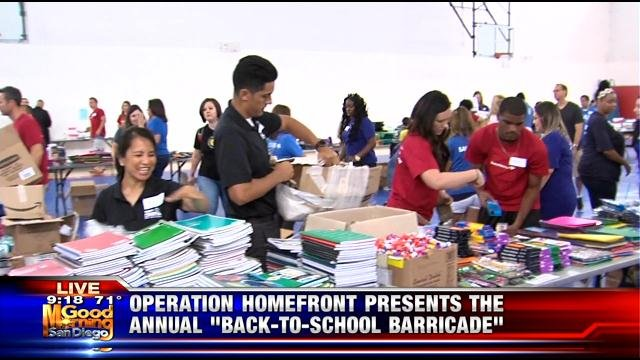 Operation Homefront providing back-to-school supplies