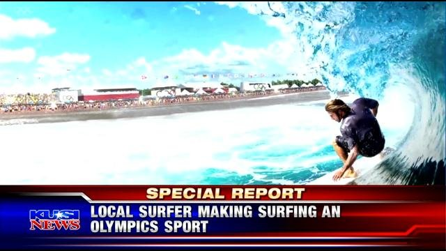Local surfer making surfing an Olympic sport