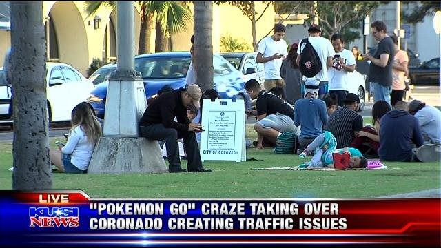 'Pokemon Go' craze taking over Coronado, creating traffic issues