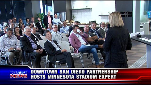 Downtown San Diego partnership hosts Minnesota stadium expert