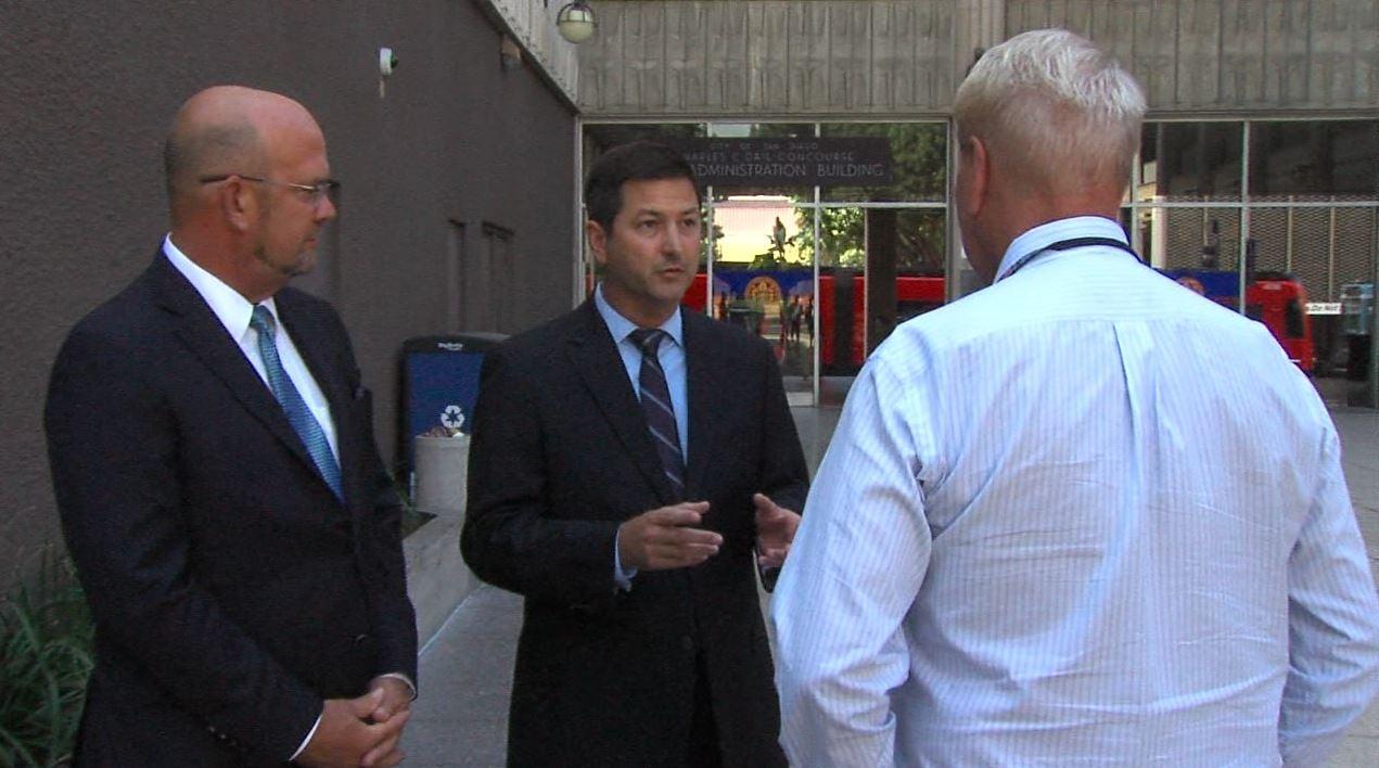 Council Member Scott Sherman and Chris Ward
