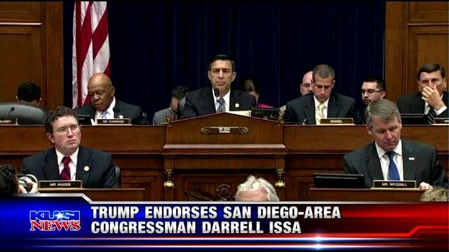 Trump endorses San Diego-area Congressman Darrell Issa