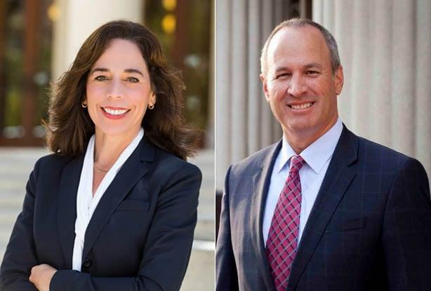Deputy District Attorney Robert Hickey and Deputy City Attorney Mara Elliott