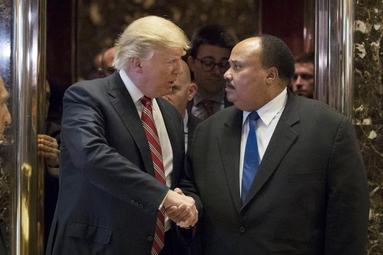 President-Elect Donald Trump and Martin Luther King III (New York Daily News)