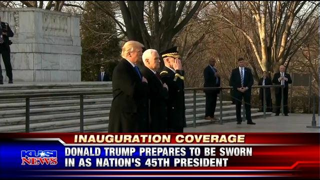 Donald Trump prepares to be sworn in at nations' 45th president