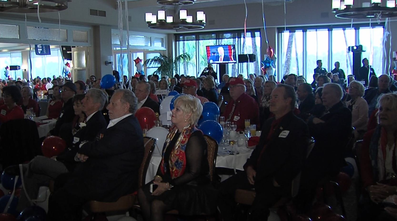 Local Republicans watch Inauguration at live viewing party