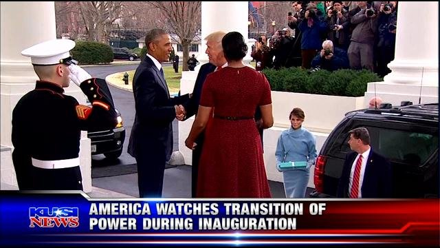 America watches transition of power during inauguration