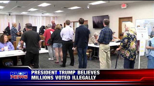 President Trump believes millions voted illegally