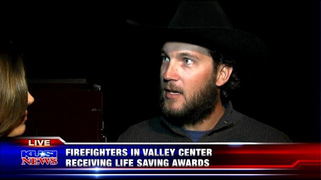 Firefighters honored at Valley Center for saving man's life