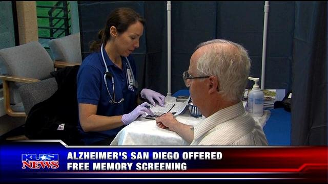 Alzheimer's San Diego offered free memory screenings