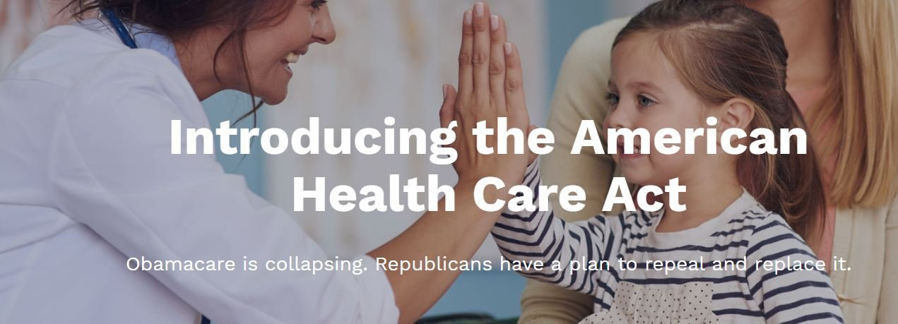 House Republicans release 'The American Health Care Act'
