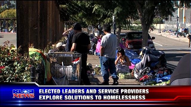 Elected leaders and service providers explore solutions to homelessness