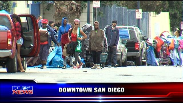 Reaction from San Diego's homeless population