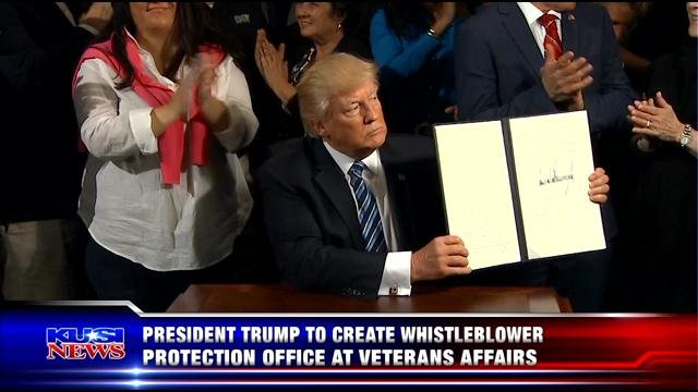 President Trump to create whistle-blower protection office at Veterans Affairs