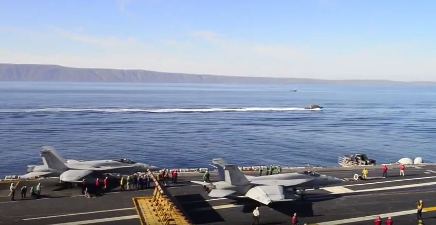 USS Carl Vinson arrives in South Korea (YouTube)