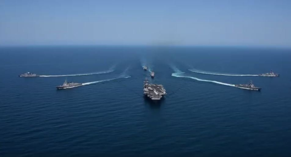 USS Carl Vinson Strike Group participates in military exercises with South Korea