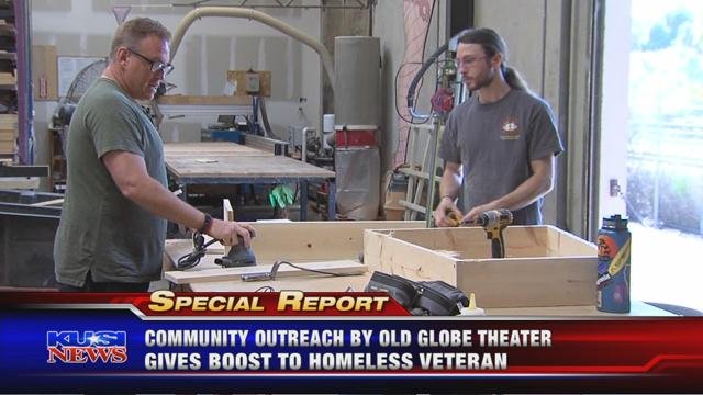 Community outreach by Old Globe Theater gives boost to homeless veteran