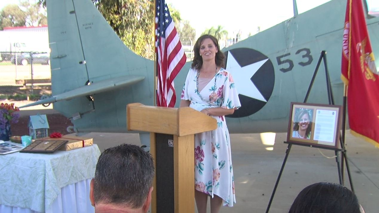 'Marine Wife of the Year' given to local woman for commitment to community