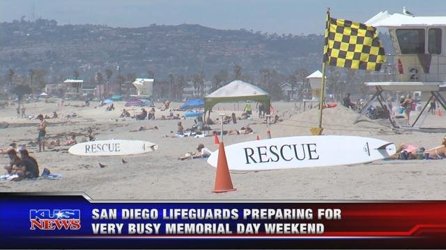 San Diego Lifeguards preparing for very busy Memorial Day weekend