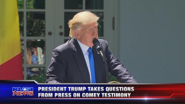 President Trump takes questions from press on Comey testimony