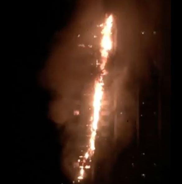 London Fire (Twitter/@W7VOA)
