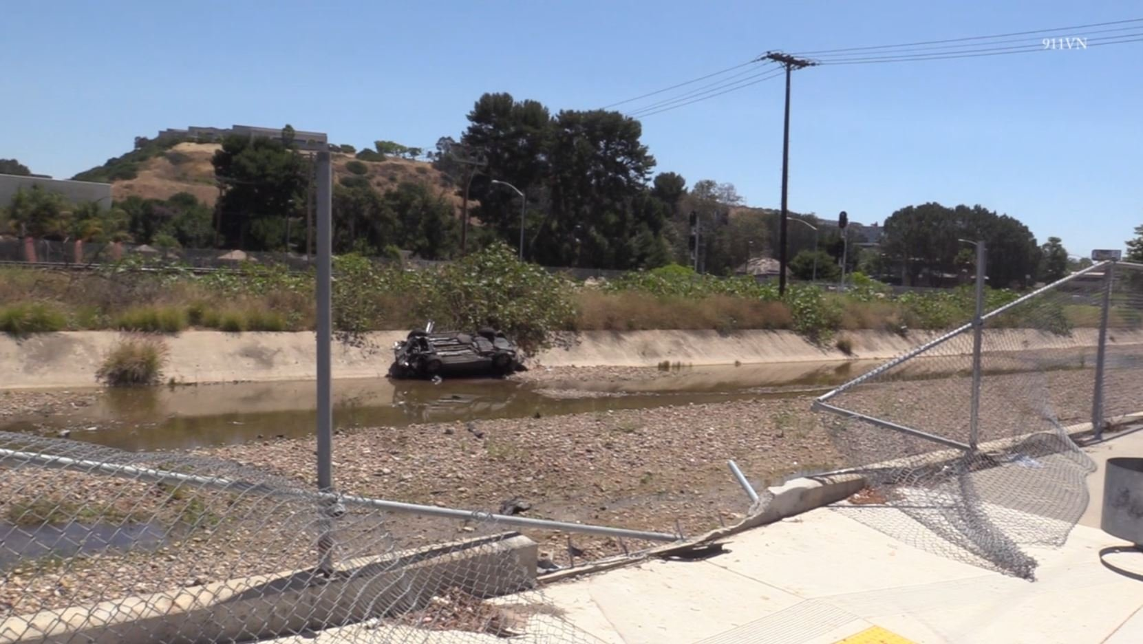 Motorist killed after crashing through fence into concrete drainage ditch in Sorrento Valley