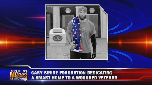 Gary Sinise Foundation dedicates smart home to wounded veteran