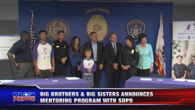 Big Brothers, Big Sisters announce mentoring program with SDPD
