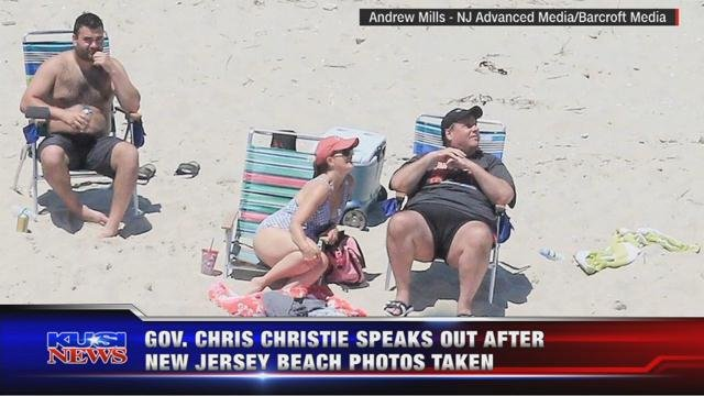 Gov. Chris Christie speaks out after New Jersey beach photos taken