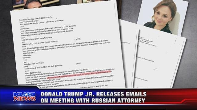 Donald Trump Jr. releases emails on meeting with Russian attorney