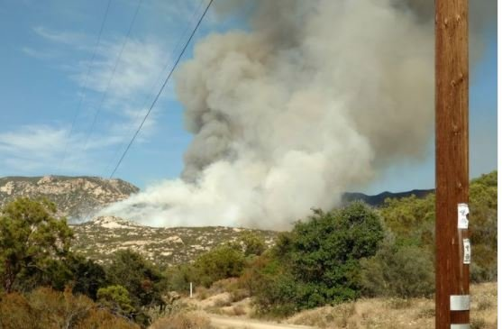 Brush Fire Burning Near Warner Springs