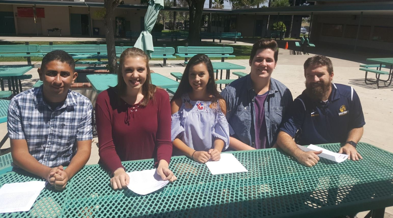 Ethan Rosado, Ashley Gall, Jessica Salvador and Jarred Botha