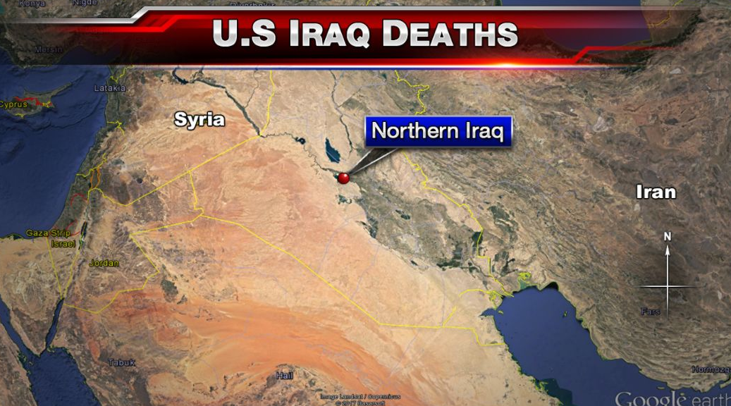 Two US soldiers killed in northern Iraq