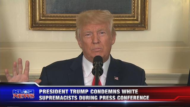 President Trump condemns white supremacists during press conference
