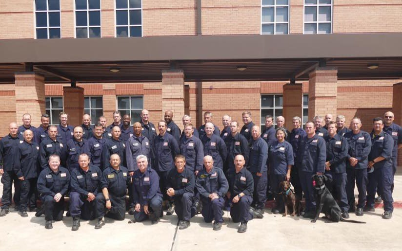 San Diego Urban Search & Rescue CTF-8 firefighters on Sept . 2 in Katy, Texas (Facebook)
