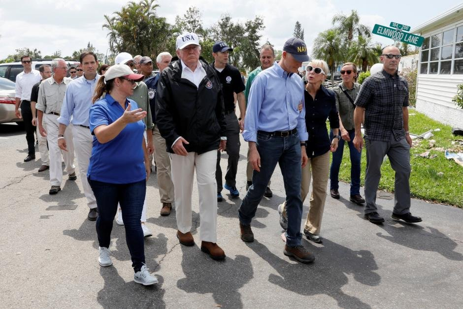 Visiting Florida, Trump Praises 'Incredible' First Responders, State Officials