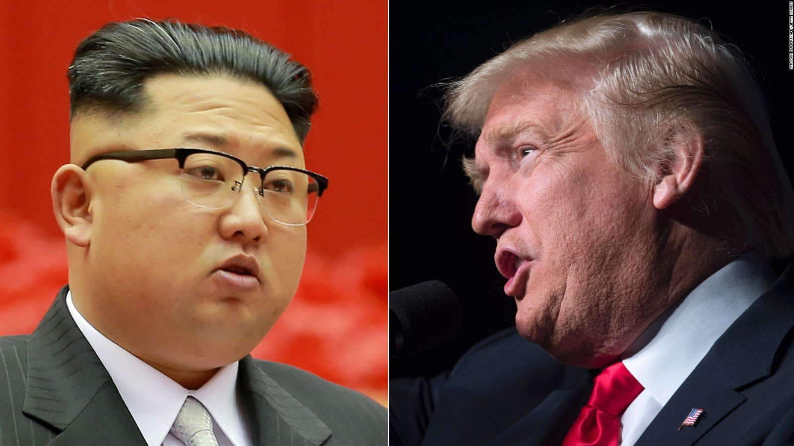 Kim Jong Un/President Trump (CNN)