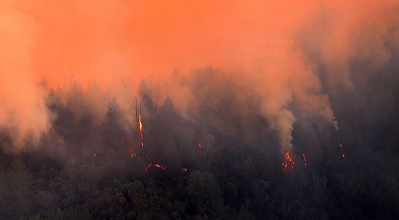 New wildfire ignites in Santa Cruz mountains overnight
