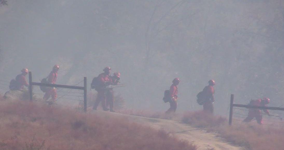 Small plane crash causes brush fire near El Capitan Reservoir in Lakeside