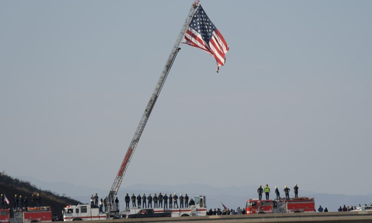 Funeral Procession Begins for San Diego Firefighter