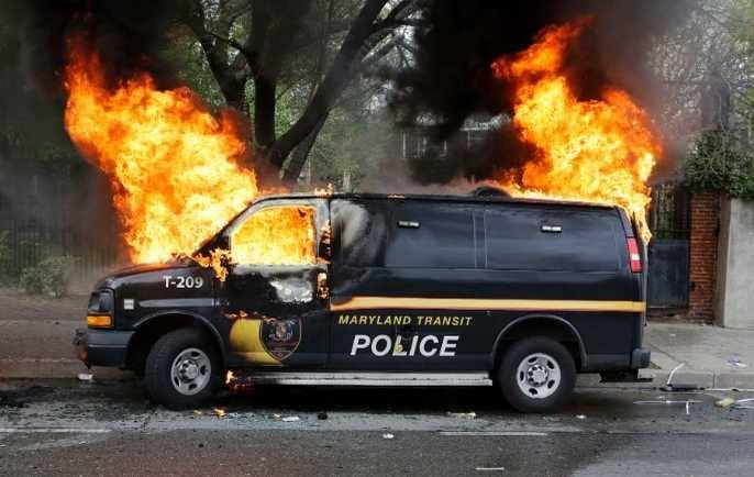 Violent and aggressive protesters attack Baltimore Police