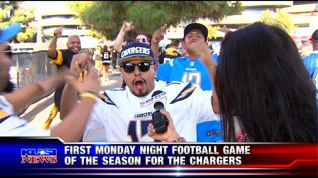 Chargers fans at Monday Night Football