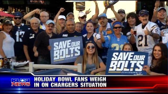 Holiday Bowl fans weight in on Chargers situation