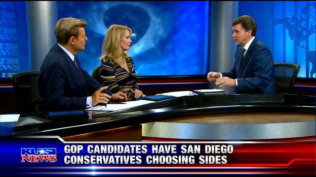 GOP candidates have San Diego Conservatives chooding sides